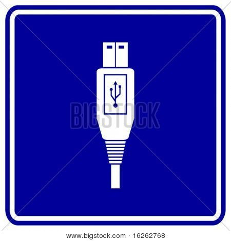 usb cable sign