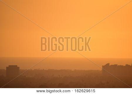 Golden Sunset Baldwin Hills