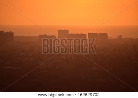 Los Angeles Sunset From Baldwin Hills
