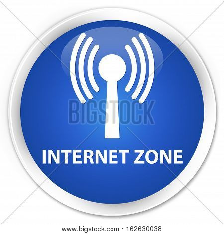 Internet Zone (wlan Network) Premium Blue Round Button