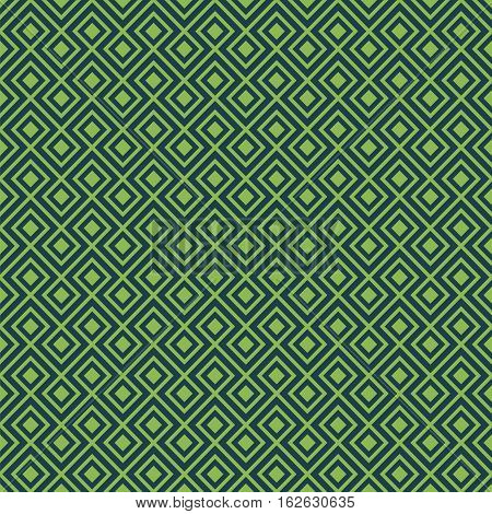 Seamless Geometric Abstract Interlocking Pattern Background Texture in Green