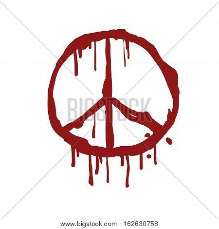 Bloody Peace Sign Vector Illustration Icon Sign