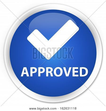 Approved (validate Icon) Premium Blue Round Button