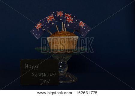 Cupcake with Australian Flag to Celebrate Australian Day 26 Jan