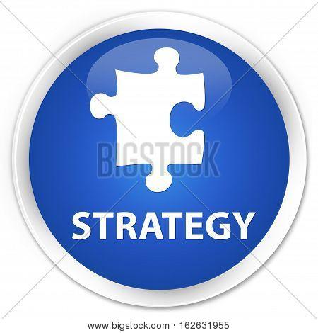 Strategy (puzzle Icon) Premium Blue Round Button