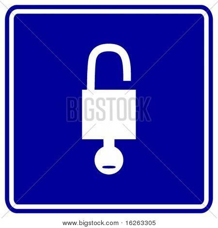 open padlock with key