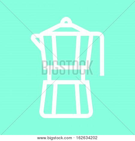Moka pot icon in trendy flat style isolated on grey background. Kitchen symbol for your design, logo, UI. Vector illustration, EPS10.