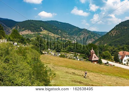 Landscape Of Serbia Countryside