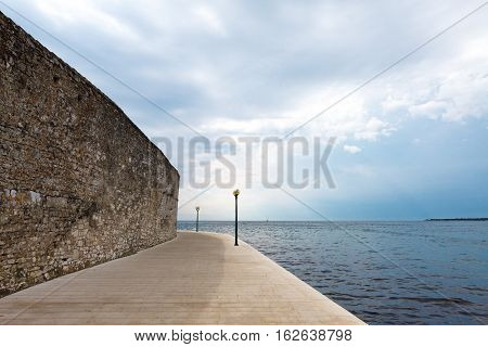 Empty And Deserted Promenade