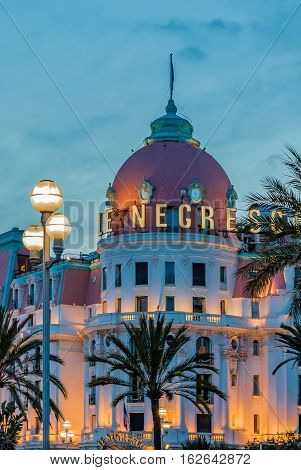 Hotel Negresco In Nice France