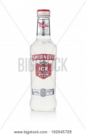 Bangkok, Thailand - Sep 15, 2015 : A Single Bottle Of Smirnoff Premium Ice No.131. Established Aroun