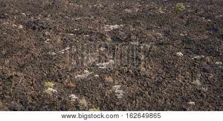 A Field Of Lava At Lava Beds National Park