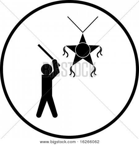 breaking the pinata symbol