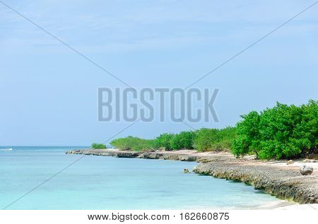 View Of The Image Taken From Eagle Beach, Aruba