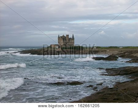 The castle to quiberon in brittany in morbihan france