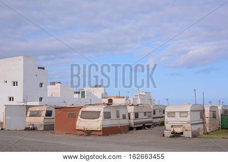 Caravan Park In The Desert