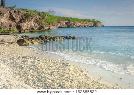 The Porto Mari White Sand Beach With Blue Sky