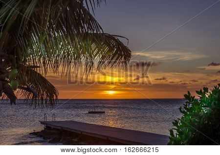 Curacao Porto Mari Beach Sunset, Late Afternoon