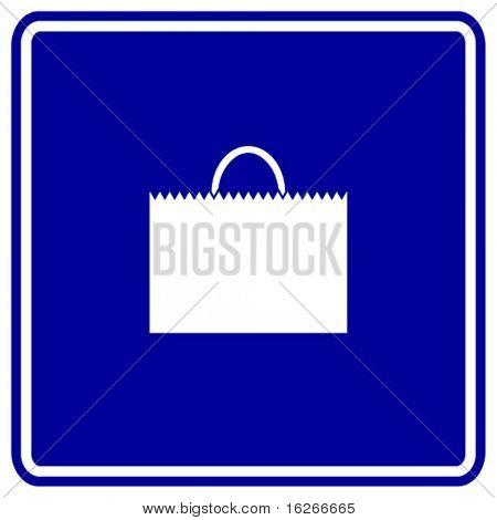 shopping bag sign