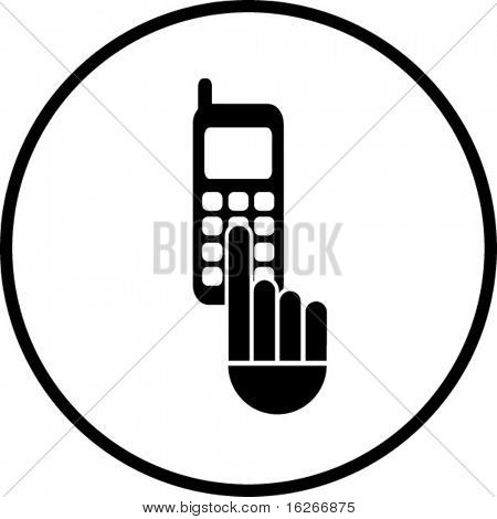 cell phone dialing symbol