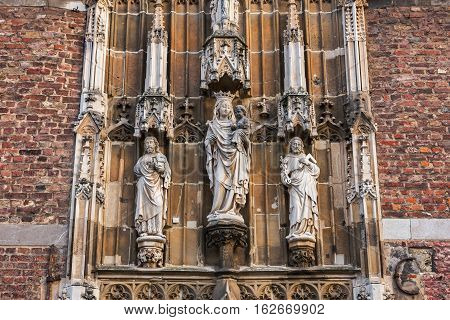 Entrance to the Aachen Cathedral Treasury, Germany