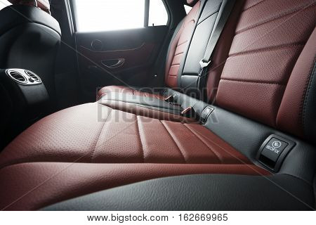 Sport luxury car clean leather back seats