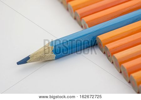Collection of colorful pencils as a background picture