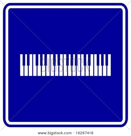 musical keyboard sign