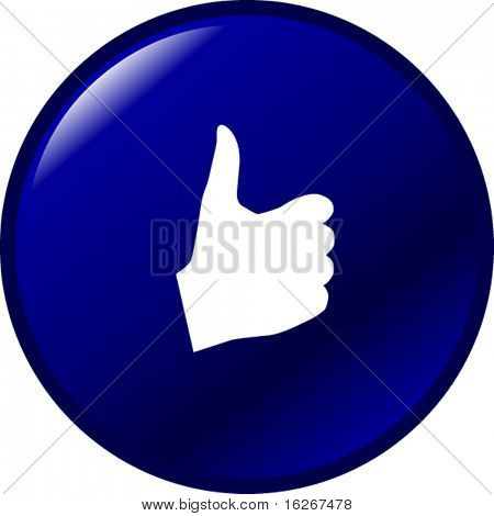 hand thumb up or positive button