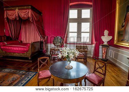 CASTLE OF AMBOISE, AMBOISE, FRANCE - CIRCA JUNE 2014: The interior of the Amboise Castle in circa June, 2014. Amboise is chateau in the town of Amboise in the Loire valley, UNESCO World Heritage Site.