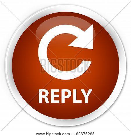 Reply (rotate Arrow Icon) Premium Brown Round Button