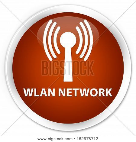 Wlan Network Premium Brown Round Button