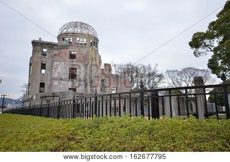 View On The Atomic Bomb Dome In Hiroshima
