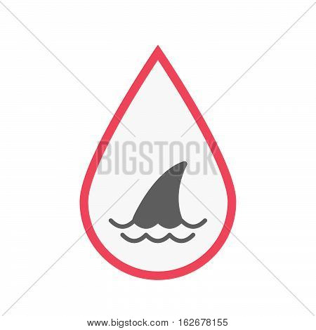 Isolated Blood Drop With A Shark Fin