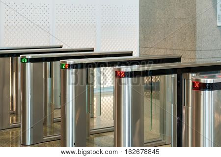 Automatic Access Control Security Gate In Station Entrance System