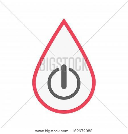 Isolated Blood Drop With An Off Button