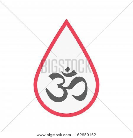 Isolated Blood Drop With An Om Sign