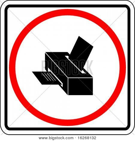 printer sign
