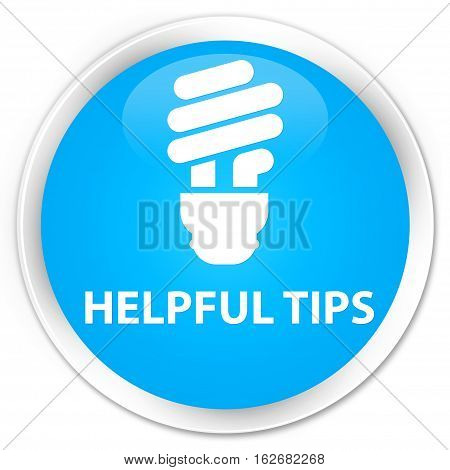 Helpful Tips (bulb Icon) Premium Cyan Blue Round Button