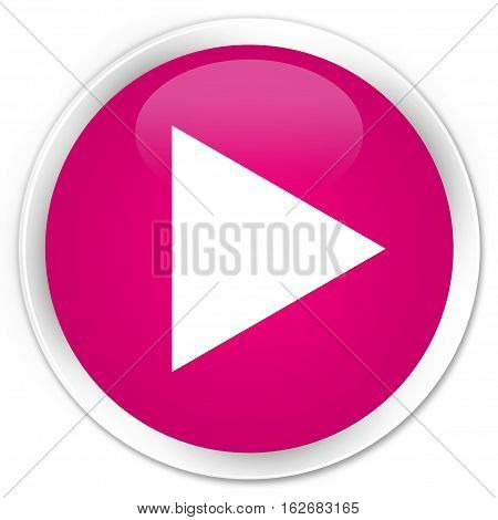Play Icon Premium Pink Round Button