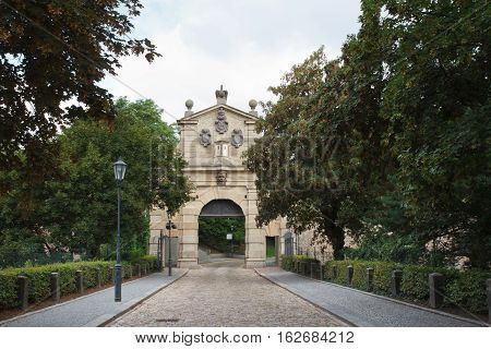 The Leopold Gate, Vysehrad, Prague. The Entrance To The Fortress, Summer
