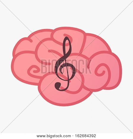 Isolated Brain With A G Clef