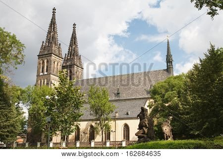 Basilica Of St Peter And St Paul In Vysehrad Fortress In Prague