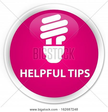 Helpful Tips (bulb Icon) Premium Pink Round Button