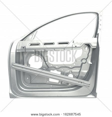 Car Door Frame on white background. 3D illustration