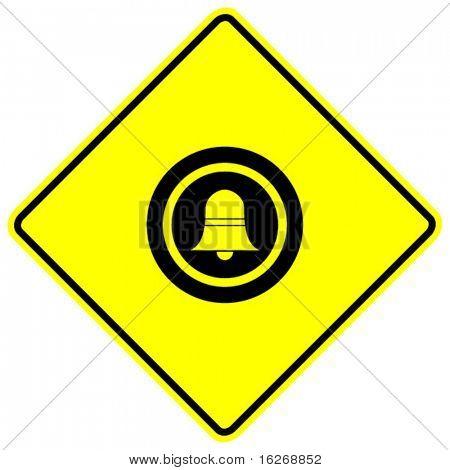 doorbell button sign