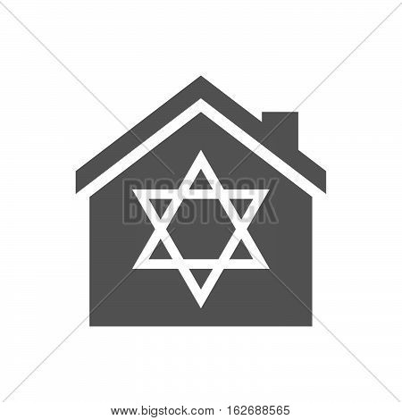 Isolated House With A David Star