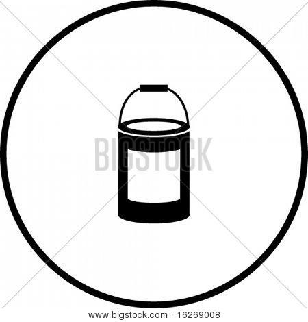 paint bottle symbol