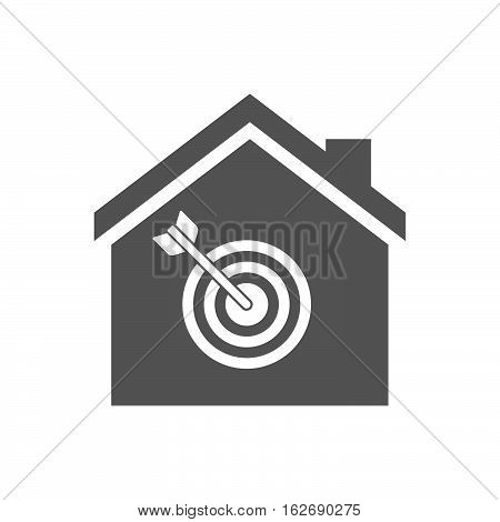 Isolated House With A Dart Board