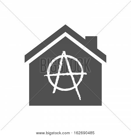 Isolated House With An Anarchy Sign